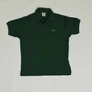 Lacoste Regular 5 Green   Polo Cotton Solid